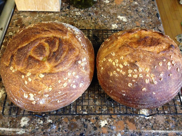 Loaves side by side